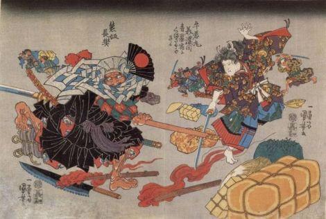 800px-The_fight_between_Ushiwaka_Maru_and_Kumasaka_Chohan